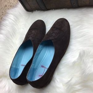 THIERRY RABOTIN Brown Suede Flats